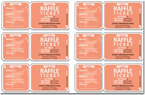 20 Free Raffle Ticket Templates With Automate Ticket Numbering Numbered Raffle Ticket Template