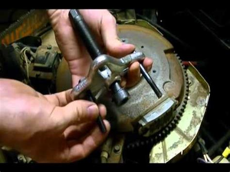 small engine repair: how to remove a flywheel from a