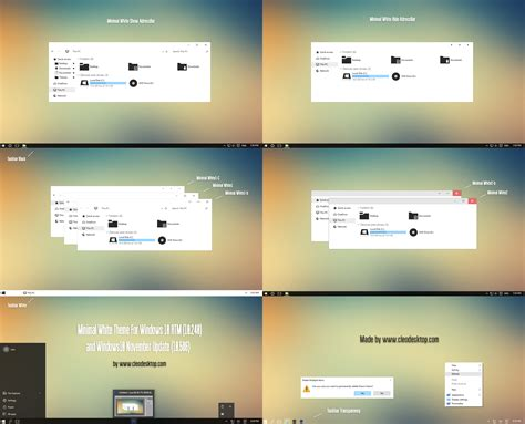 windows 10 10586 36 full glass theme desktop by mykou minimal white theme windows10 build 10586 aka 1511 by