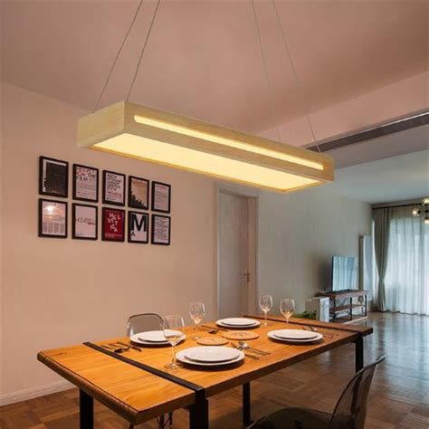 japanese style solid wood simple led dining room pendant