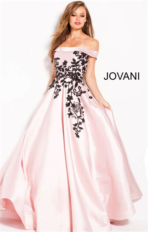 jovani    shoulder ball gown dress prom dress