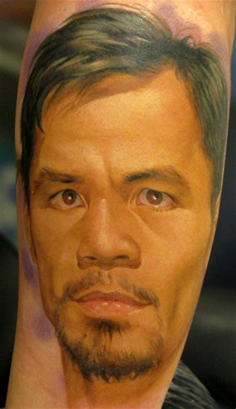 manny pacquiao tattoo classic manny pacquiao portrait on forearm