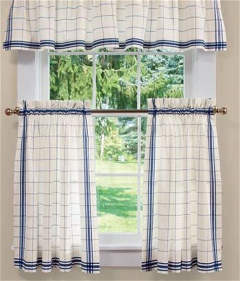 Country Plaid Kitchen Curtains Plaid In And Country Curtains On