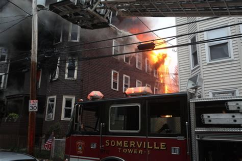 cfd assists at 7 alarm somerville fire department city