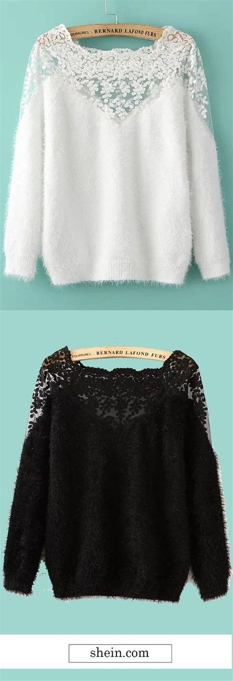 white lace insert boat neck mohair sweater best 25 lace insert ideas on pinterest black lace skirt
