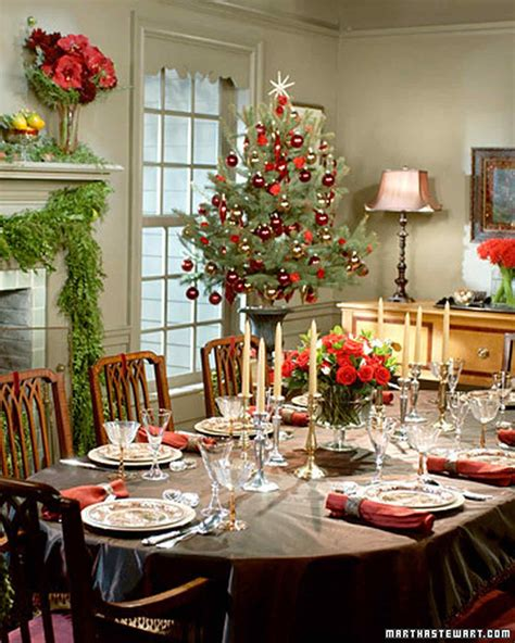 christmas table holiday table settings martha stewart
