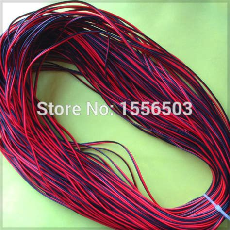 1 meter electrical wire tinned copper 2 pin awg 22