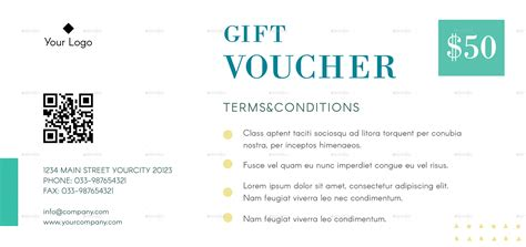 Fashion Gift Voucher By Infinite78910 Graphicriver Clothing Terms And Conditions Template