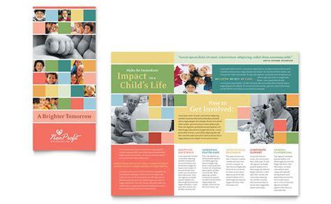 non profit association for children brochure template design