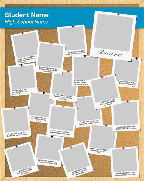 Corkboard Poster Template Use Our Free Software To Create A Poster For Your Graduating Senior Information Poster Template