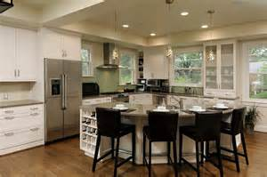 kitchen with l shaped island ahmann llc