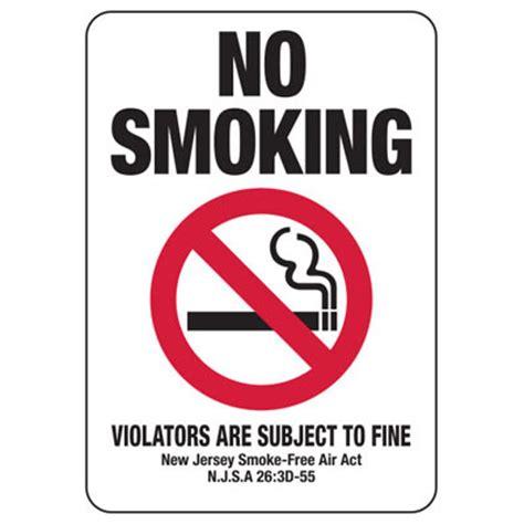 no smoking sign with fine new jersey no smoking sign emedco
