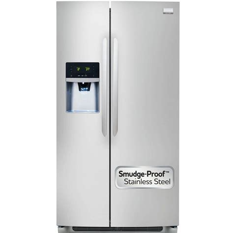 frigidaire refrigerator gallery 25 57 cu ft side by side