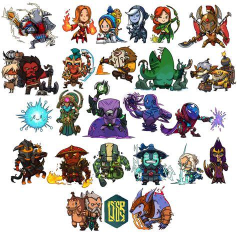 Chibi Dota 1 24 chibi heroes dota 2 chibi and