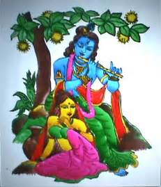 Glass Painting Krishna Outline by Satabdi S Paintings