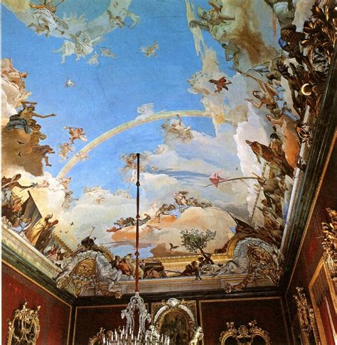 baroque ceiling tiepolo ceiling painting wall canvas pinterest