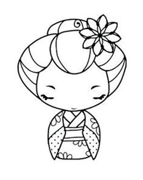 coloring pages kokeshi dolls 1000 images about coloriage kokeshi on pinterest