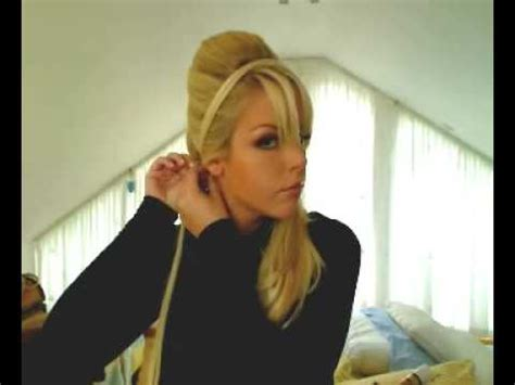 hairstyles of the 60s youtube quick 60 s inspired hairband bouffant up do ponytail