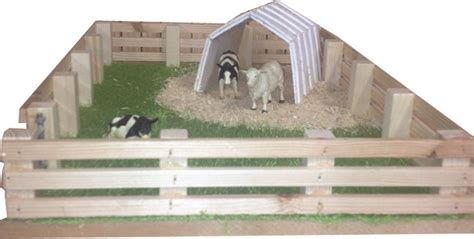 calf house model calf house with field wooden handcrafted farm sets nortern irelandwooden