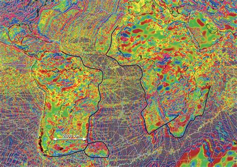 america magnetic anomaly map lithosphere remnants