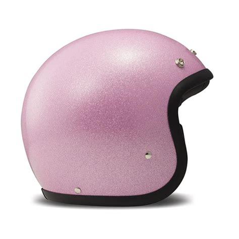 Agyo Helmet Retro Glitter Pink pink cafe racer open helmet vintage glitter by dmd