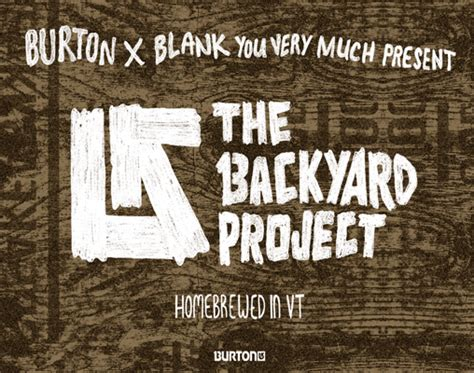 Your Backyard Burton by Burton 2015 Backyard Collection Snowboard Design Contest