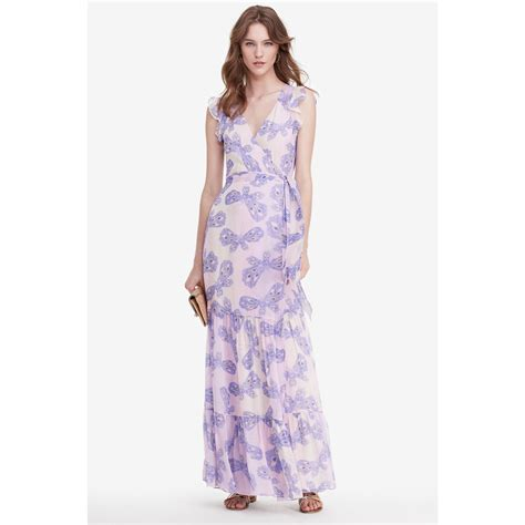 Fashion Diane Furstenberg Chiffon Wrap Dress by Lyst Diane Furstenberg Dvf Stephania Tiered Chiffon