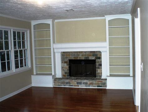 built in shelves built in shelves around brick fireplace home design ideas