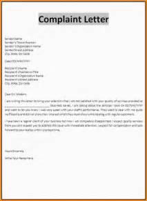 Complaint Letter Sample doc 704961 doc575709 sample employee complaint letter