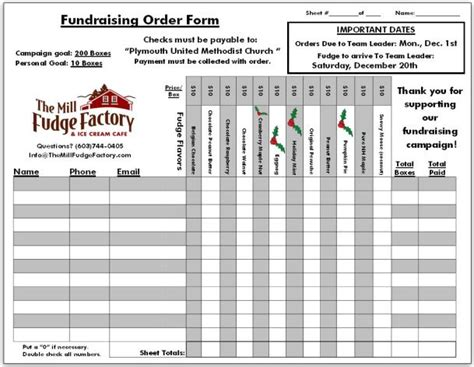 Fundraiser Order Templates Word Excel Sles Fundraiser Order Form Template