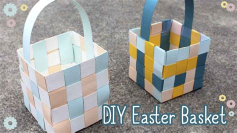 Make An Easter Basket From Paper - how to make an easter basket