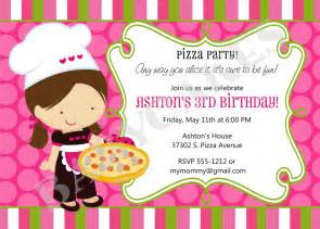 pizza birthday party invitation invite pizza party by