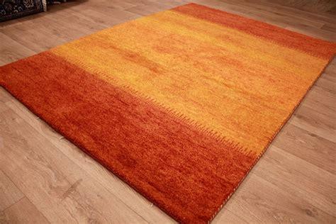 www teppich orient teppich quot gabbeh quot reine wolle 198x143 cm orange