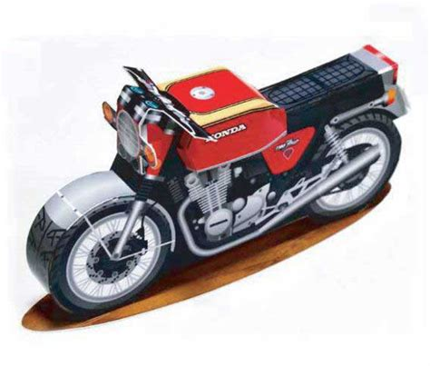 Motorcycle Papercraft - honda cb1100 k10 motorcycle free paper model