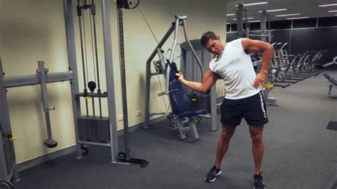 standing oblique cable crunch exercisescomau youtube