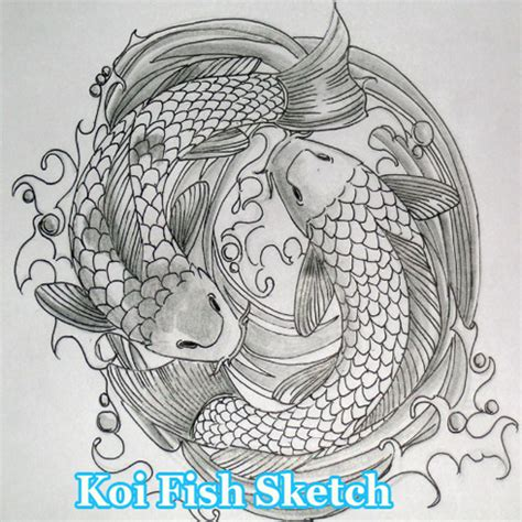 sket tattoo ikan koi koi fish sketch latest version apk androidappsapk co