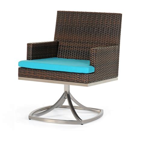 caluco mirabella resin wicker patio swivel rocker dining