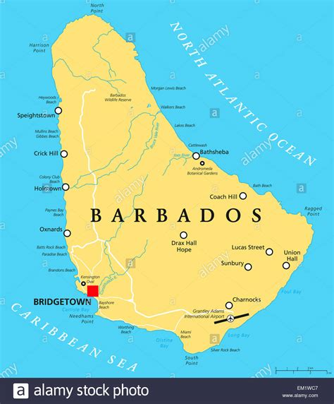 political map of barbados barbados konfliktkarte