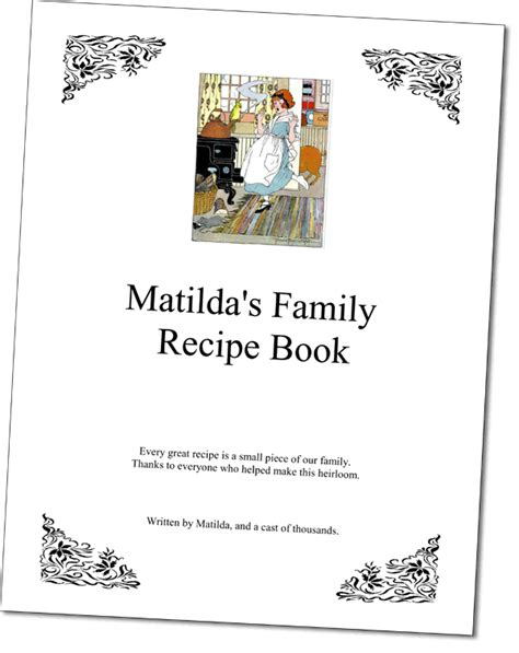 our family cookbook the blank recipe journal half letter format to write in all your favorite family recipes and notes books cookbook software template