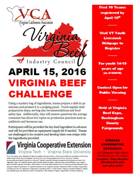 virginia challenge program new contest at expo beef challenge virginia clovers