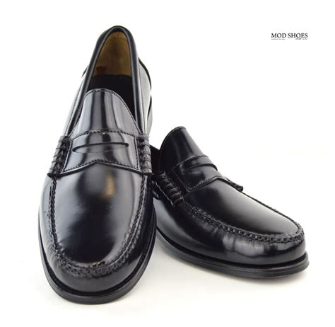 black loafers shoes black loafers the earl by modshoes mod shoes