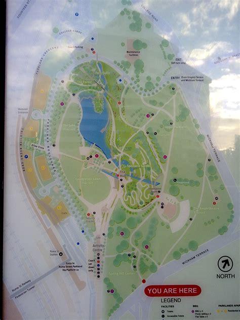 Brisbane Roma Street Parkland Running Maps In The World Brisbane Botanic Gardens Map