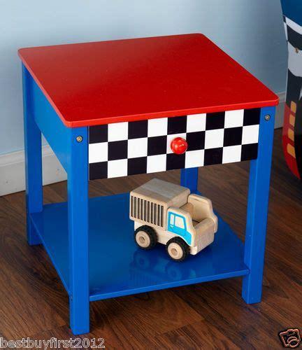 car table for toddlers kidkraft blue racecar race car boys toddler side