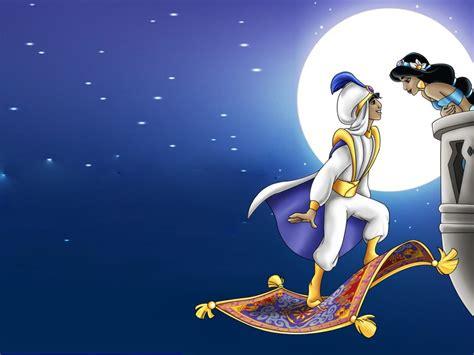 aladdin  princess jasmine romantic night full moon hd