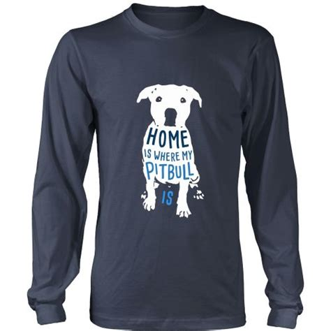 Tshirt Pitbull 3 dogs t shirt home is where my pitbull is colors t