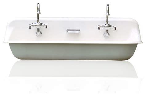 Copper Bar Sinks And Faucets Large 48 Quot Kohler Farm Sink Cast Iron Porcelain Trough Sink