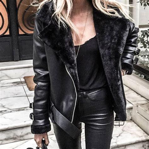 Mc New York Jaket s shearling biker jacket