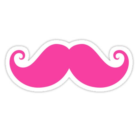 printable mustache stickers quot hot pink handlebar mustache quot stickers by mhea redbubble