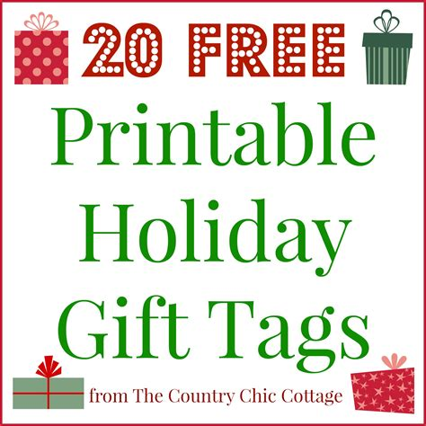printable christmas gift tags to make 20 printable holiday gift tags for free the country
