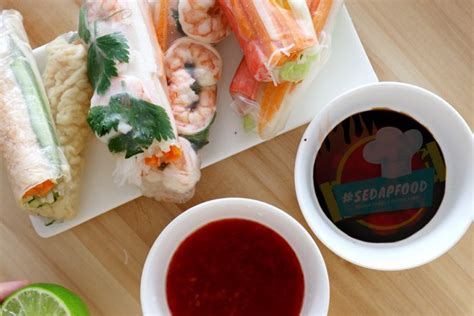 resepi vietnamese roll menu diet  sedap  segar